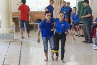 Các vận động viên hăng hái tranh tài tại Hội thao