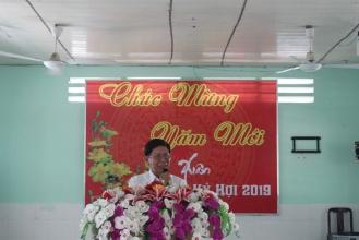 Đ/c Nguyễn Kim Ngọc, Trưởng Phòng Lao động - Thương binh và Xã hội phát biểu tại chương trình